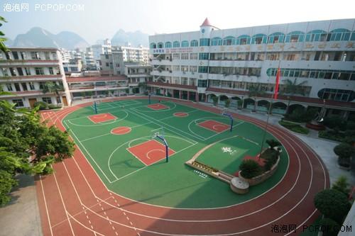 图:广西河池市金城江第五小学全景图